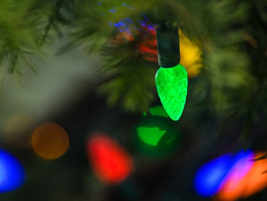 Bright Colored Christmas Tree Lights