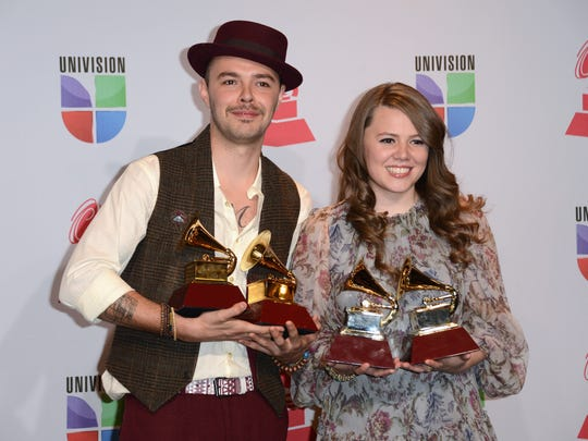 Jesse & Joy swept the 2012 Latin Grammy Awards, taking home four trophies, including Song of the Year and Record of the Year.