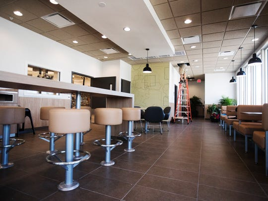 The dining room of the second floor of the McDonald's