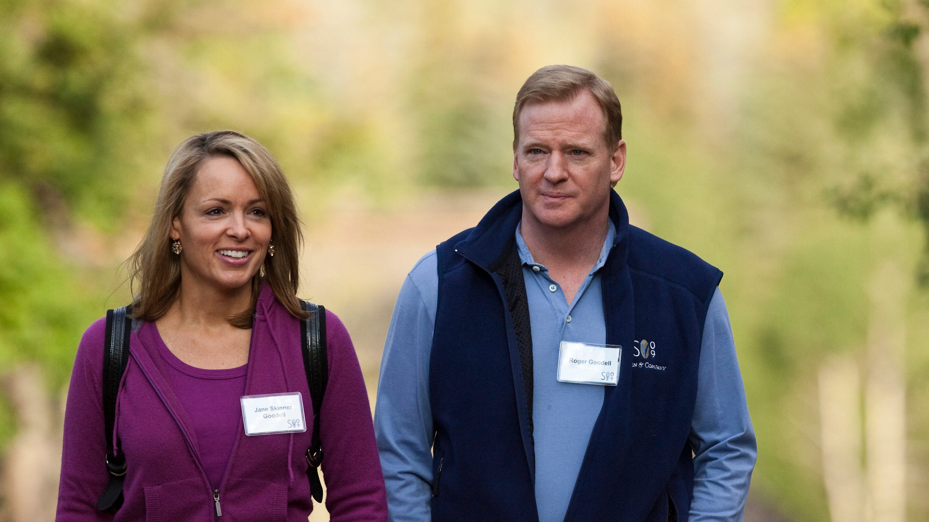 Goodell S Wife Defended Husband With Secret Twitter