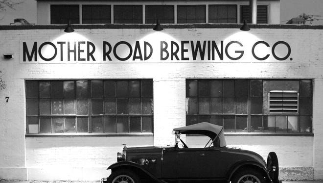 The front view of Mother Road Brewing Company.