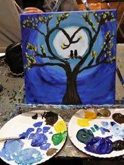 Jim Stingl's finished painting.