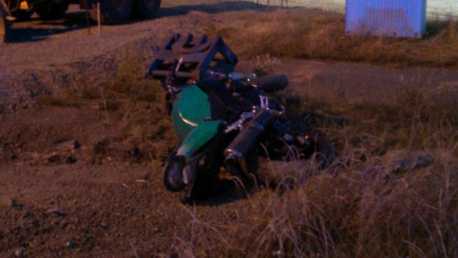 A motorcyclist crashed in the area of 45th and Market streets on July 3.
