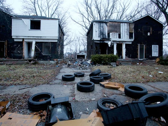 Blight and abandoned homes in Detroit.on Tuesday, March
