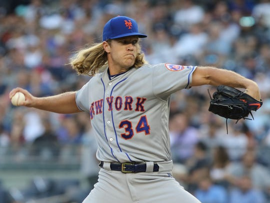 Noah Syndergaard, pitching during the first inning against the Yankees at Yankee Stadium on Friday, July 20, 2018, is making just his second start for the Mets since going on the DL on May 25.