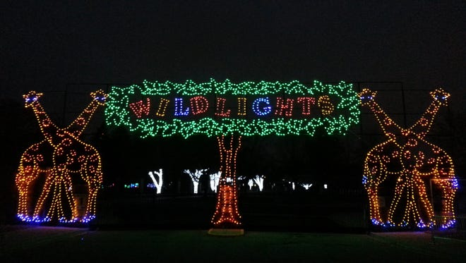 The annual Wild Lights holiday display returns to this weekend to the Detroit Zoo.