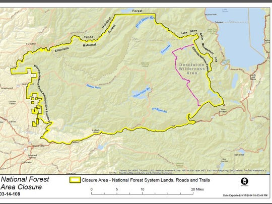 King Fire Climbs To 70 944 Acres Eldorado Nat L Forest Off Limits