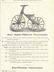 Boys' velocipede from the Montpelier Carriage Company