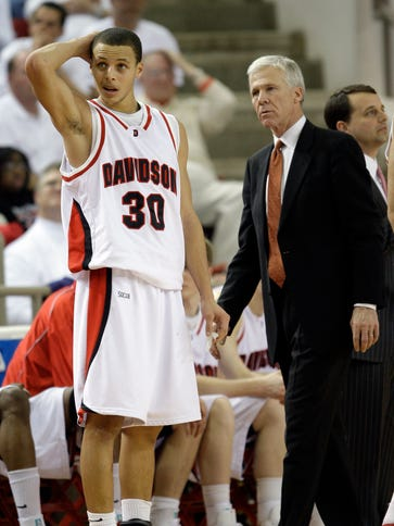 Stephen Curry, shown here with Davidson coach Bob McKillop,