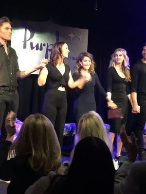 L-R: Grafton Doyle (Max), Raleigh Jackson Jones (Becky), Donna Goldfarb (Susan), Katrina Muldoon (Suzanna), Clayton Synder (Andrew).