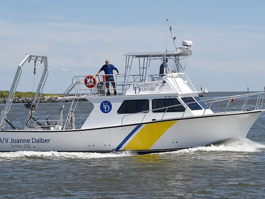 The University of Delaware's new 46-foot research vessel, the R/V Joanne Daiber, was dedicated in Lewes on Friday.