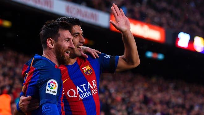 Messi y Suárez marcaron por el Barcelona.