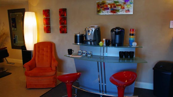 The coffee bar.