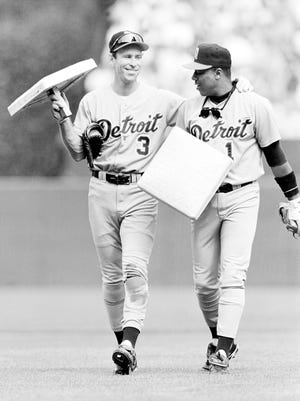 Alan Trammell and Lou Whitaker in 1995.