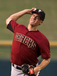 Zach Greinke pitches during a Rookie League game at