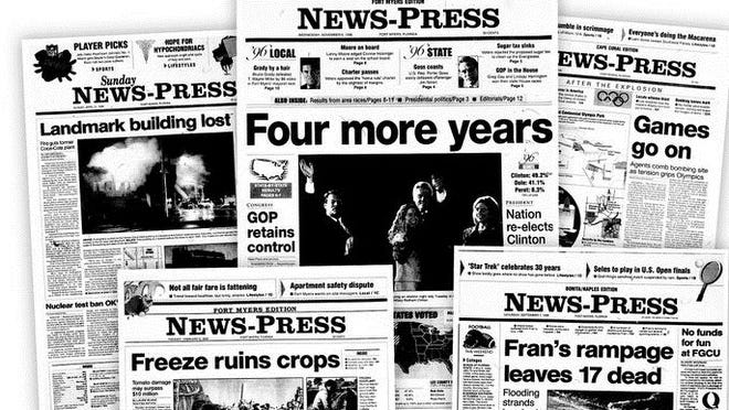 A look at the top headlines for 1996