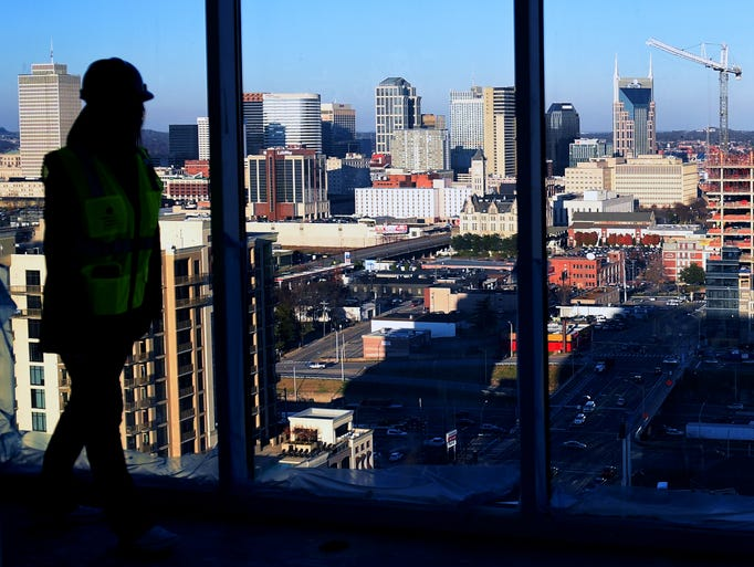 Chloe' Evans gives a tour of an penthouse under construction