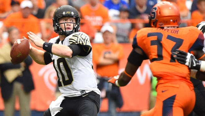 Wake Forest quarterback John Wolford