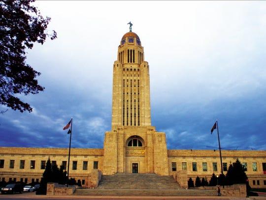 Nebraska's state capitol building, where the state