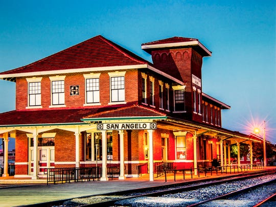 A print of the San Angelo Train Depot (circa 2014) by Ken Thompson.