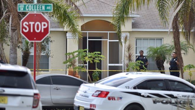 The home where the police involved shooting happened Friday is located in the 600 block of Southwest Colleen Avenue in Port St. Lucie.