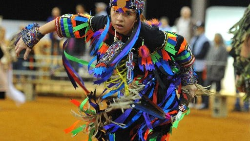 The Thunder On The Beach Pow Wow continues from 10 a.m.-5:30 p.m. Feb. 19 at Indian River County Fairgrounds in Vero Beach.