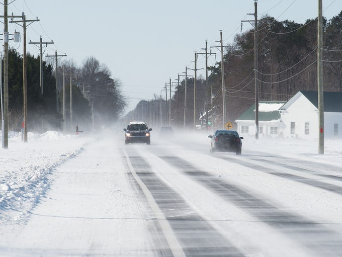 Cars drive along Route 9 west of Georgetown.