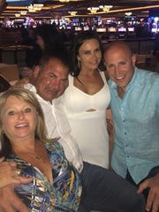 From left to right, Shelly Comfort, her husband Joe, of Webster, and friends Kristi and Joe Shur, were on the Las Vegas strip on Sunday night when the mass shooting happened. They were staying at Delano, right next to Mandalay Bay.