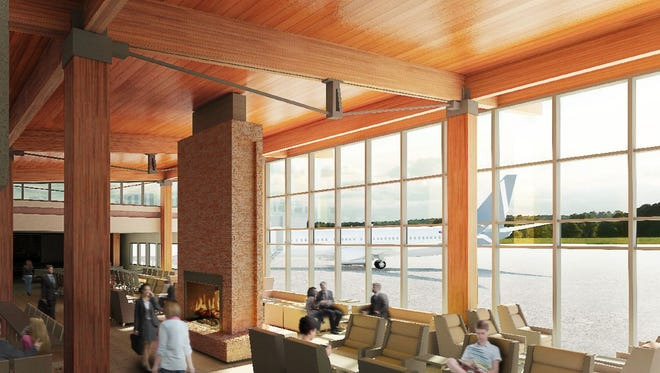 Propeller Airports released this rendering in 2016 that shows a proposed boarding and gate area for a new passenger terminal at Paine Field in Everett, Wash.