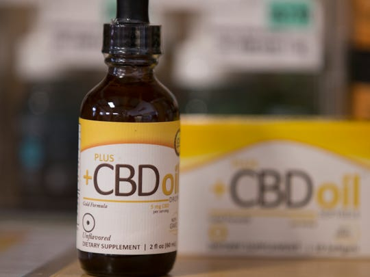 Georgetown Market offers this example of cannabidiol oil, also known as CBD, Indianapolis, Friday, September 1, 2017. The oil is used by a variety of people, and medical testing is being done to determine its efficacy in treating seizures, and pain.