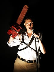 """A college kid named Ash finds himself on the gore-filled path after a weekend escape goes famously awry in """"Evil Dead: The Musical."""""""