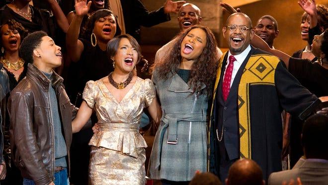 Jacob Latimore, left, Angela Bassett, Jennifer Hudson and Forest Whitaker star in the holiday musical 'Black Nativity.'
