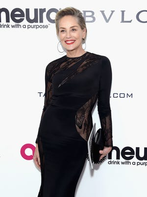 WEST HOLLYWOOD, CA - FEBRUARY 26: Actor Sharon Stone attends the 25th Annual Elton John AIDS Foundation's Academy Awards Viewing Party at The City of West Hollywood Park on February 26, 2017 in West Hollywood, California.  (Photo by Jamie McCarthy/Getty Images for EJAF) ORG XMIT: 700009181 ORIG FILE ID: 645760280