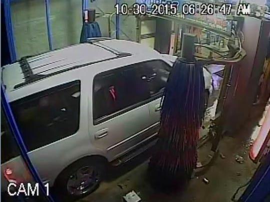 Surveillance footage of robbery
