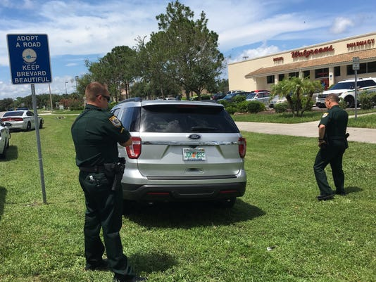 Suspect apprehended for theft outside Walgreens