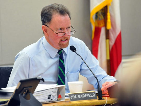 Brevard County Commission Chairman Jim Barfield is