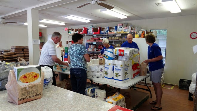 The food pantry at The Carpenter's Table provides assistance to residents on the west side of Spartanburg County.