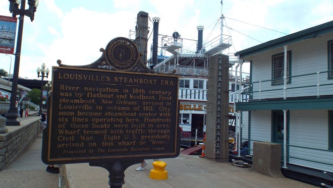 A historic marker by the Belle of Louisville recaptures importance of Louisville as a river port.