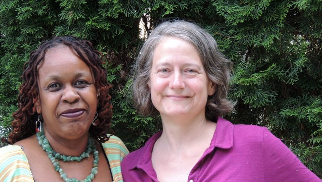 From left to right, Donna Lightfoot-Cooper and Barbara Cohig, candidates in the Sept. 13, 2016, Democratic primary for Nyack trustee.