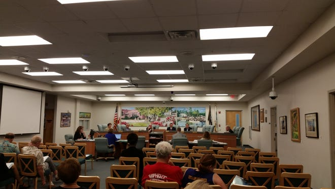 Bonita Springs City Council holds a meeting, Wednesday, Sept. 7, at City Hall in Bonita Springs.