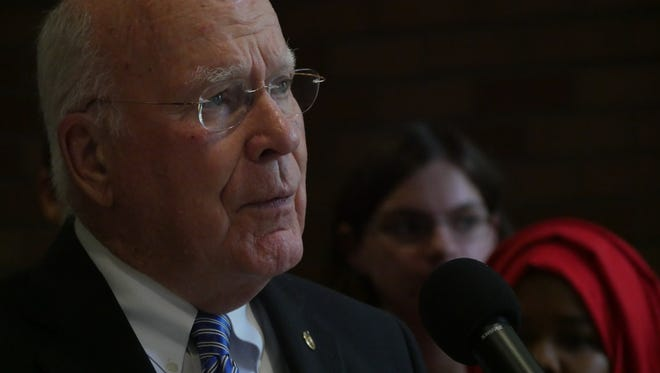 Sen. Patrick Leahy, D-Vt., worked long hours to secure a $2.8 million grant for Vermont students looking to go to college, he said.
