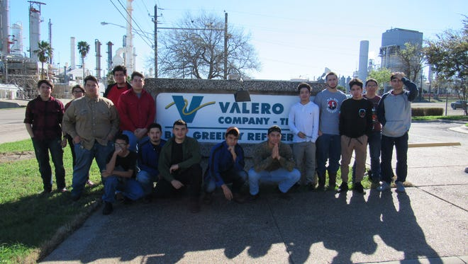 The Hammons Education Leadership Program, or HELP, took a group of students to Valero's Bill Greehey Refinery.