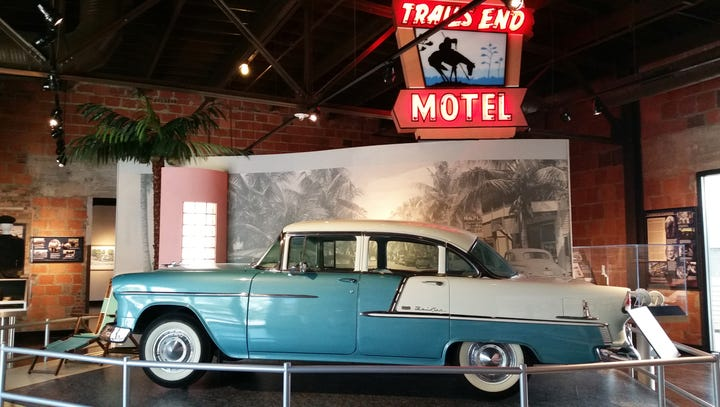 In this 2016 photo, a 1955 Chevrolet Bel Air is on