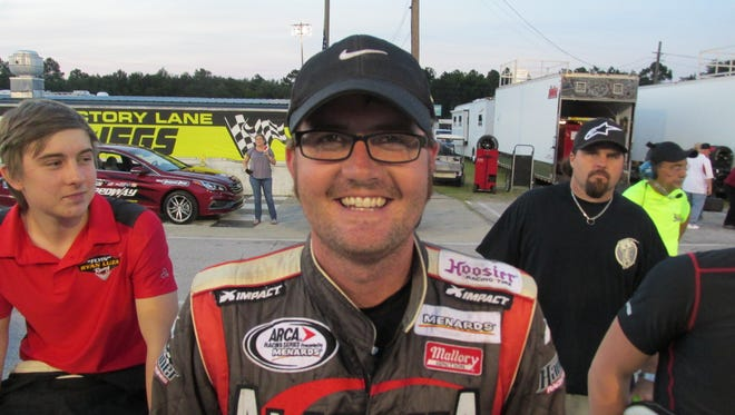 Justin South learning from veteran short-track star Augie Grill as both employee, racing competitor