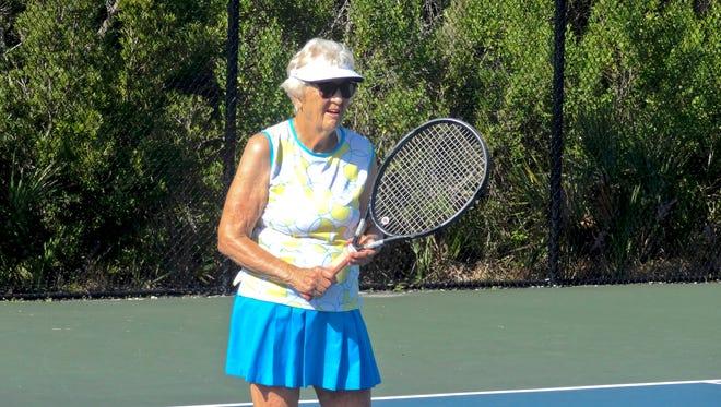 Trudy Kuckhahn awaits the ball during a team training session with the Cocoa Beach Shore Shots.