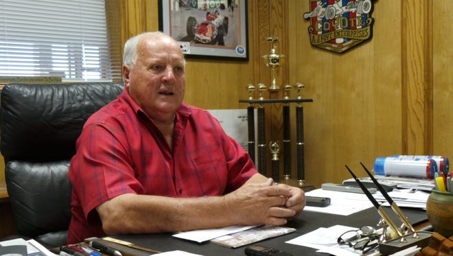 A.J. Foyt, shown here in his office in Waller, Texas, has been released from a Houston hospital after 25 days, the longest hospitalization of his life.