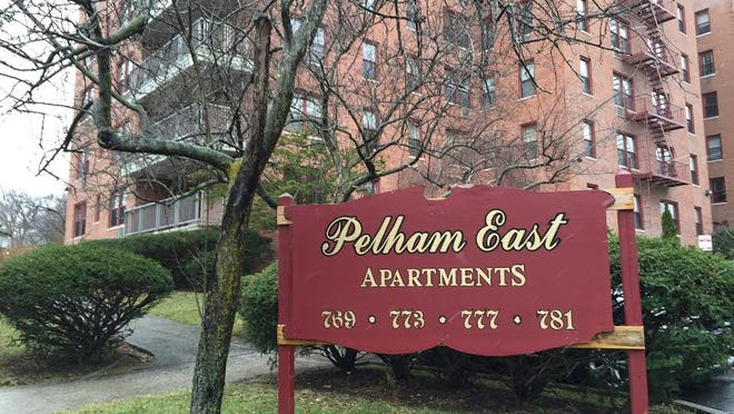 Pelham East Apartments is photographed on Wednesday. The complex is accused of housing discrimination in a federal lawsuit filed this month.