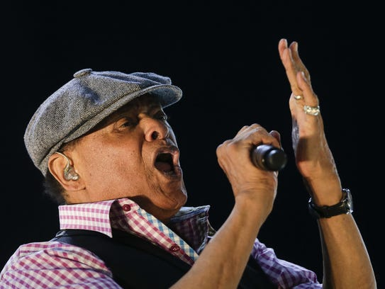 The late Al Jarreau, shown performing at the Rock in
