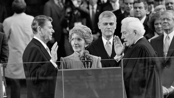 Ronald Reagan's inauguration. 1981