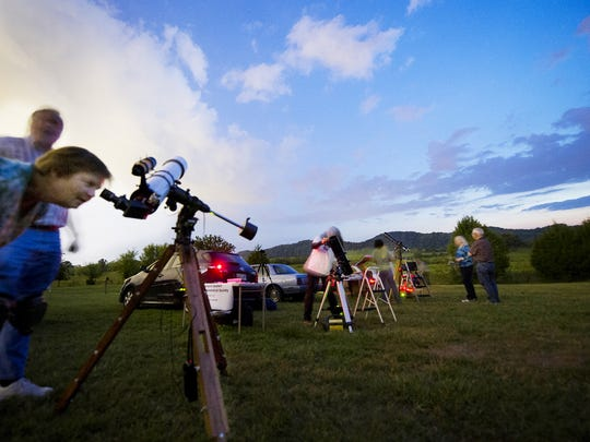 """Members of the Barnard-Seyfert Astronomical Society host """"star parties """" around town, where anybody can go and do some stargazing and learn about the night sky."""